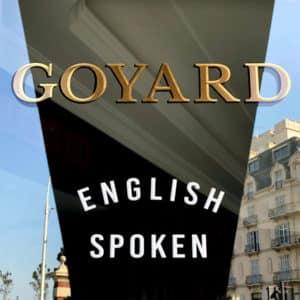Lettres peintes - enseigne GOYARD