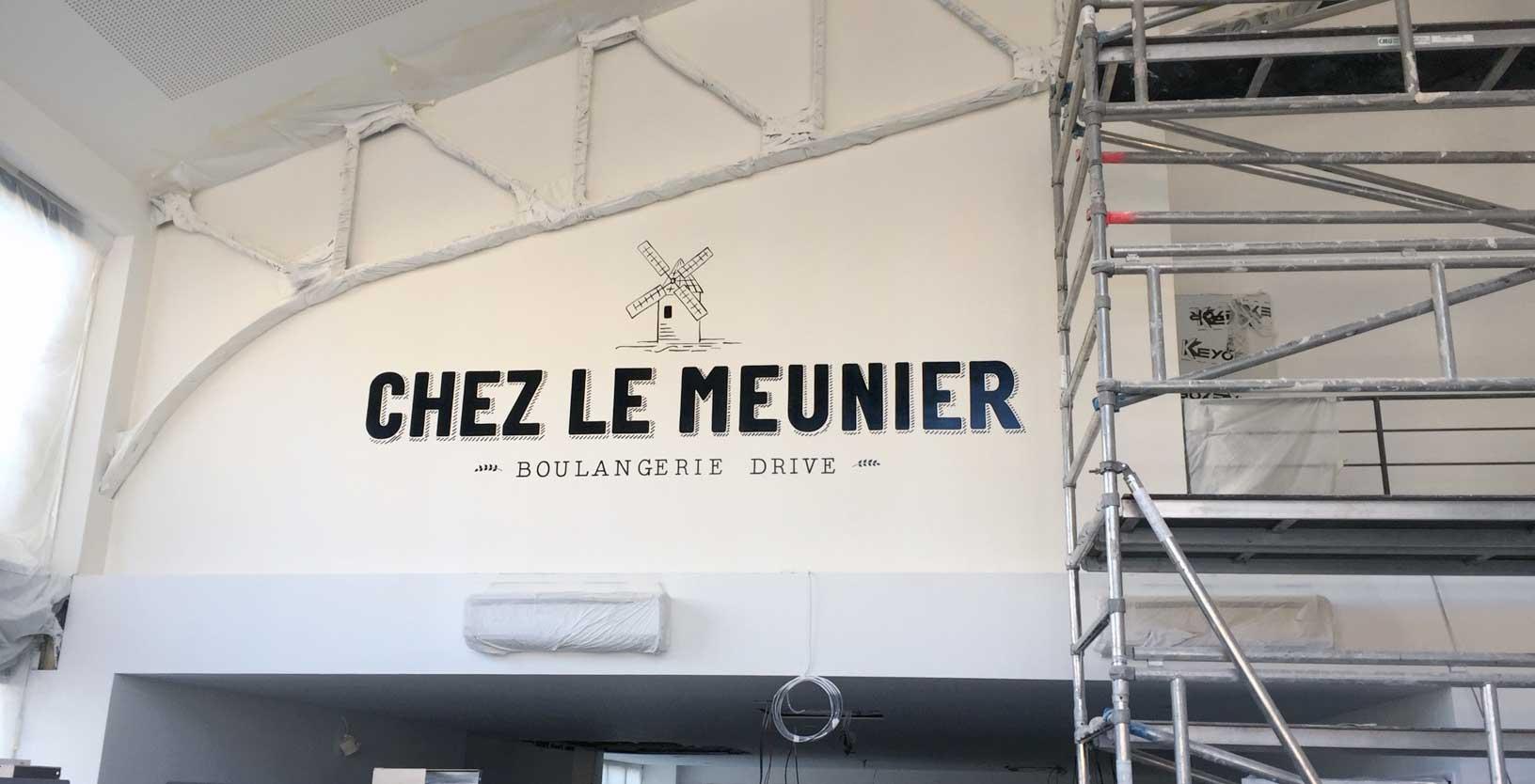 Lettres peintes - Chez le Meunier